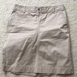 Women's kaki skirt